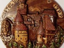 Plachetă ceramică - Castelul Bran