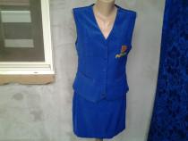 Costum dama vesta + fusta mar. 40 / M