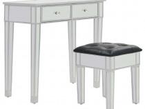 Masă de toaletă tip oglindă cu scaun, MDF și 246661