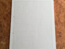 Bloc notes / Carnet A4 matematica 45 foi 30 x 21 cm – Nou