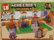 Nou/sigilat - set de 82 piese tip lego minecraft lb 514-3