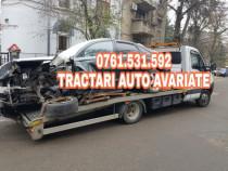Tractari auto avariate defecte fara numere transport la RAR