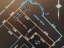 Teren- lot amenajat pentru constructii- 653 mp