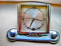 A874-Ceas masa Mauthe vechi Art Deco talpa culisanta alama.