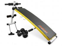 Aparat Fitness Pliabil, Banca Pentru Abdomene + 2 Haltere Si