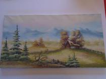 Peisaj pictat pe panza cauciucata Tablou 1