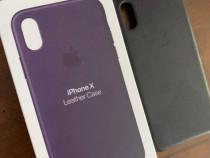 Husa de piele • iPhone X / Xs • Dark Aubergine