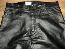 Pantaloni de barbati,model clasic moto,rock,piele naturala