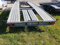 Remorca platforma Wiola 8m doua masini