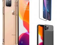 Iphone 11 11 PRO 11 PRO MAX Folie Sticla + Husa Silicon