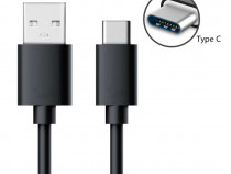 Cablu Usb - Type C Fast Charge Alb / Negru Nou