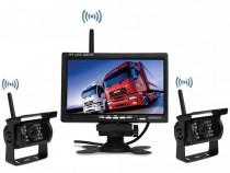 """Kit marsarier wireless cu 2 camere si display de 7"""" 12V~24V,"""