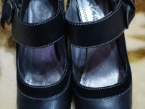 Pantofi piele și catifea