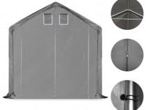 Cort de depozitare, gri, 3 x 6 m, PVC 275893