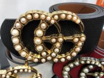Curele firma damă pentru talie/logo metalic perle