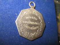 2370-I-Medalia Magyar Kutyafajtak Torzskonyve alama argintat