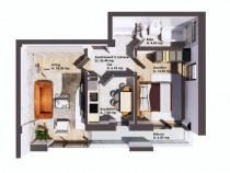 Apartament 2 camere , 57 mp, etaj 1, Cug - Soseaua Nicolina