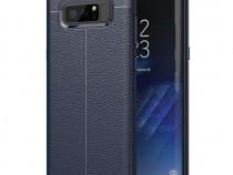 Husa telefon silicon samsung galaxy note 8 n950 litchi blue