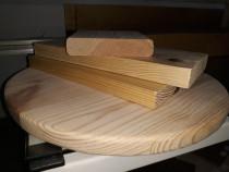 Blat masa 20 mm grosime, 300 mm diametru din lemn masiv