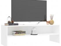 Comodă TV, alb, 120 x 40 x 40 cm, PAL 800036