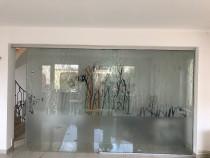 Perete sticla securizata(cu usa mobila) - lungime 4 m