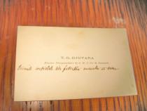 B140-I-T.G.Giuvara-Ministru Regelui Romania carte vizita.