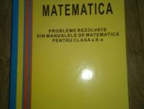 Probleme rezolvate din manualele de matematică clasa 10