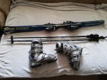 Set ski clapari+ski-uri+bete