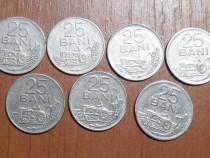 Lot 7 monede 25 bani 1966