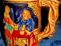 624-Halba rustica scena han ceramica hangita, musteriu...