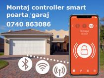 Montaj controller smart automatizare poarta garaj
