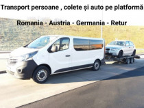 Transport persoane, colete și auto pe platformă