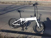 Bicicleta electrica pliabila partial