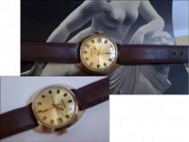 Ceas de colectie POLJOT 17J, placat cu aur, cal. 2614.2H