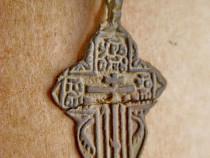 B246-Cruce antica mica bronz vechime foarte mare.
