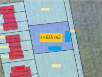 Teren intravilan 635mp  constructie casa cuplata (duplex)