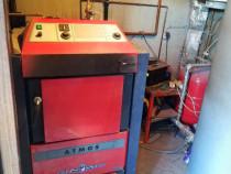 Centala atmos 40 kw +cos inox,puffer 1000l + boiler garantie