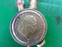 B261-Bricheta Mihai 1 Regele Romaniei moneda 1947 alama noua