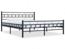 Cadru de pat, negru, 180 x 200 cm, oțel 285280