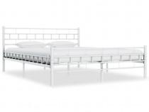 Cadru de pat, alb, 160 x 200 cm, metal 285299