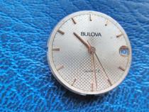 4645-BULOWA-cadran ceas metalic argintiu litere gradatii aur