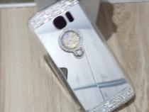 Huse silicon oglinda cu inel Samsung S7 Edge