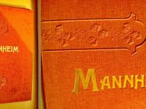 B265-Album gravuri mari vechi Mannheim Germania anii 1900-30