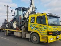 Mercedes Atego transport utilaje,camion cu macara, platforma