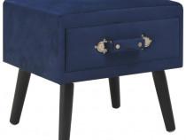Noptieră, albastru, 40 x 35 x 40 cm, catifea 247540