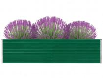 Strat înălțat grădină, verde, 320x40x77 cm, 47049