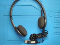 Casti Logitech H340, USB 2.0, fir, Noise cancelling