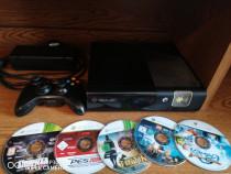 Xbox 360, negru, 5 jocuri