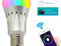 Bec YUNI smart WiFi LED 7W dimabil Alexa E27 iOS Android