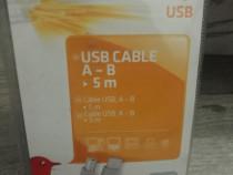 Cablu usb type A- type B (5 metri)